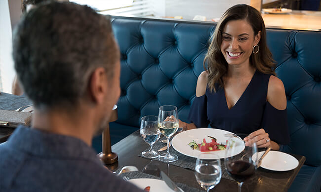 dining with views - 6 star dining - the yacht club - crystal cruises